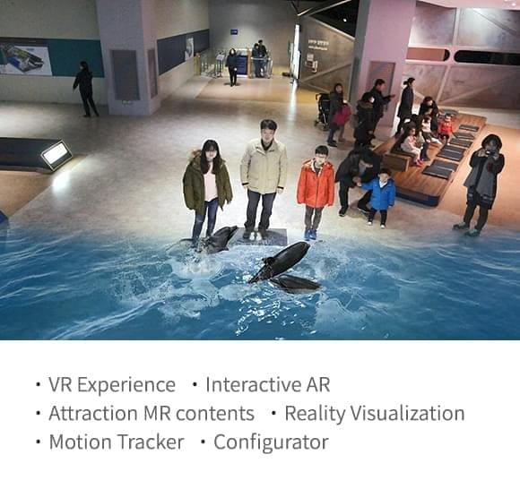 VR Experience,Interactive AR,Attraction MR contents,Reality Visualization,Motion Tracker,Configurator